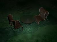 3d lawn chair model