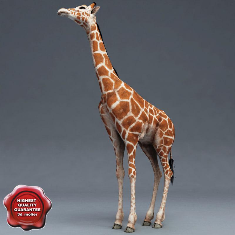 giraffe modelled 3d 3ds