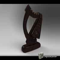harp strings 3d model