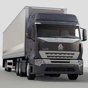maya chinese truck howo a7