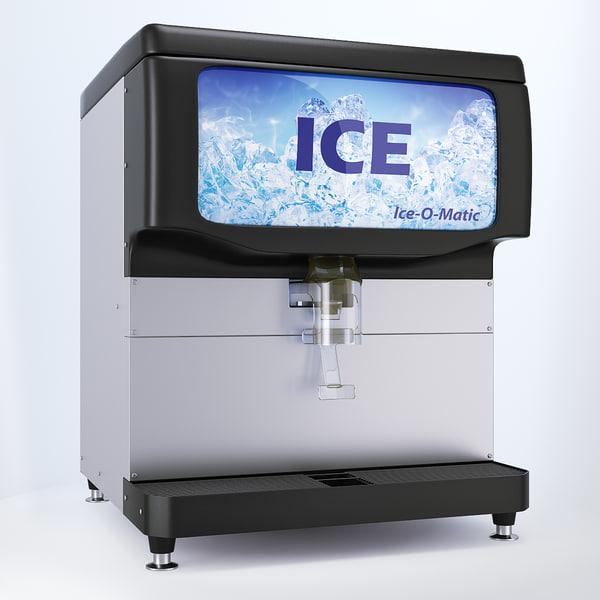 max countertop ice dispenser ice-o-matic
