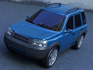 3d resolution allroad car model