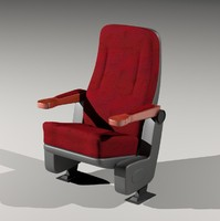 theater seat 3d 3ds