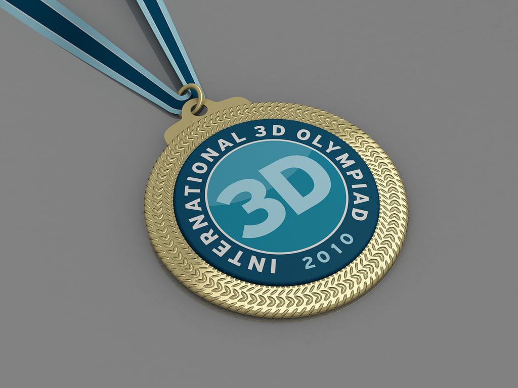 medal gold 3d max