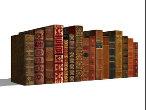 3d book leather old model