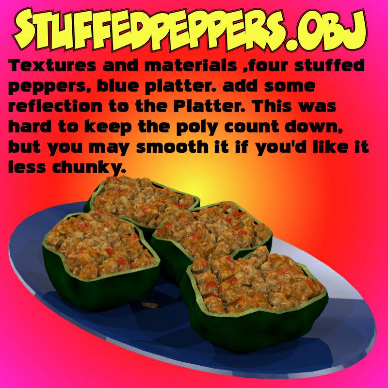 stuffedpeppers stuffed peppers obj