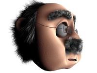 3d model character hair morph