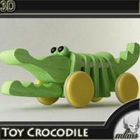 3d model toy crocodile