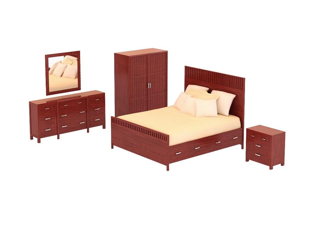 bedroom set - vista 3d model