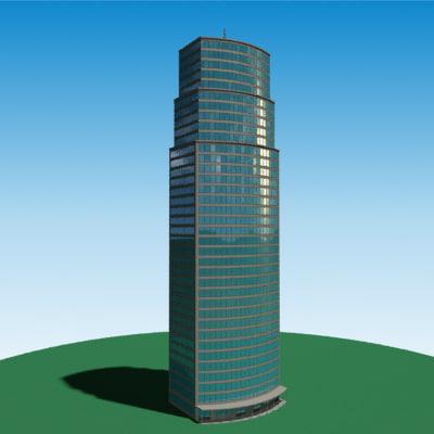 3d realistic skyscraper