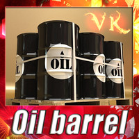 Oil barrel + Pallet + High resolution textures