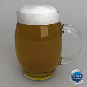 3ds max beer glass