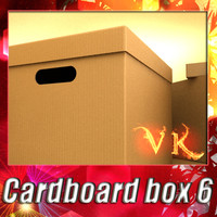 Photorealistic Cardboard Box and High Resolution textures