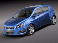 3d model chevrolet aveo 2012