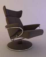 3d model armchair glass table
