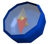 free compass item legend 3d model