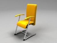 3dsmax chair armchair