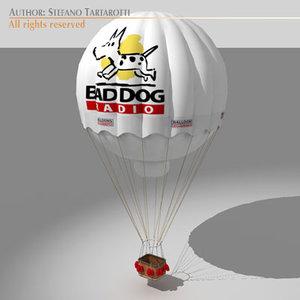 3d model gas balloon