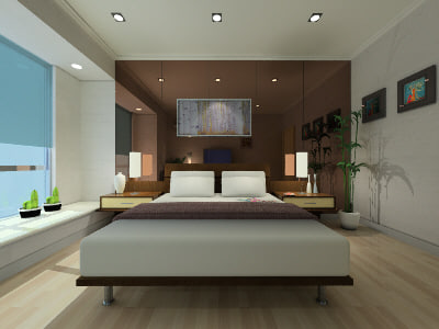 3d guest room model