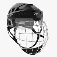 ice hockey helmet - 3ds