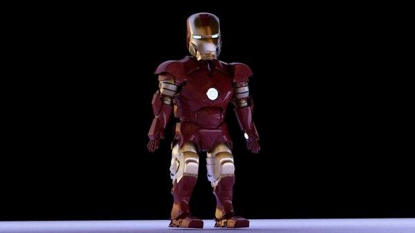 iron boy 3d model