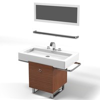 job modern contemporary art deco bathroom furniture vanity sink tap mirror set
