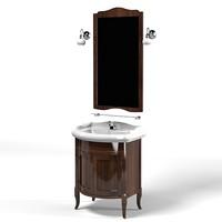 kerasan retro bathroom furniture  vanity unit Walnut cabinet for basin mirror tap lavatory mixer classic ancient