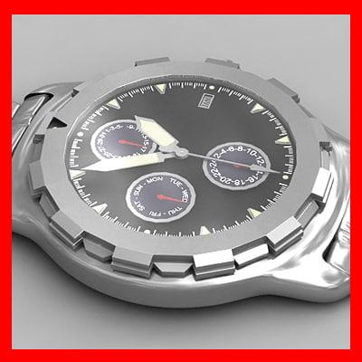 watch clock wristwatch 3d model