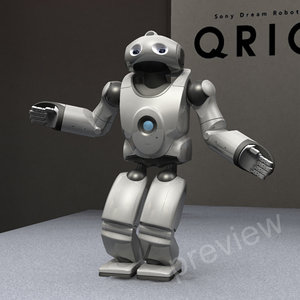 3d model qrio sony robot biped