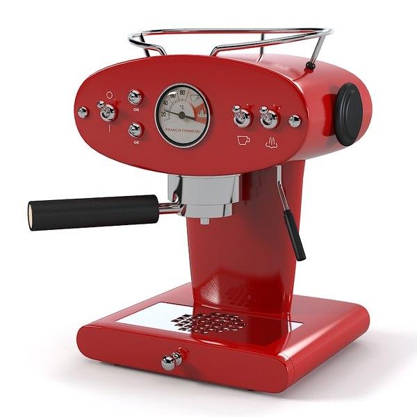 3d francis coffee machine model