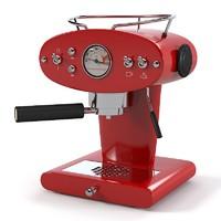 Francis Francis Coffee machine red