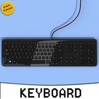 3d keyboard modeled computer model