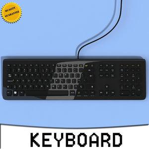 3d keyboard modeled computer model