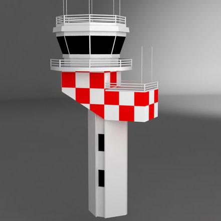 3d air traffic control tower