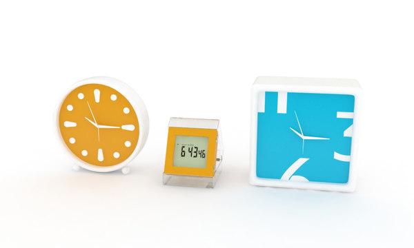 clocks alarm decoration 3d model