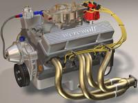 small block 427 engine 3d max