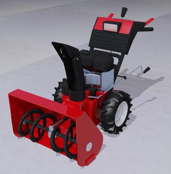 3d model of snow blower
