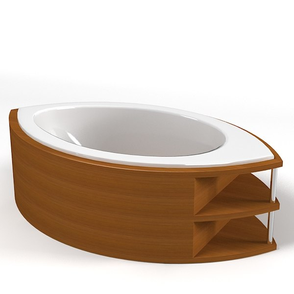 3d modern contemporary oval model