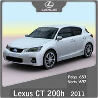 2011 lexus ct 200h 3d obj