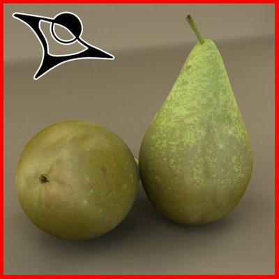 3d pear modeled