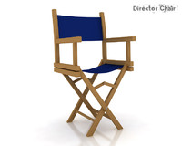 3d 3ds director chair