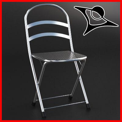 3d model chair chrome