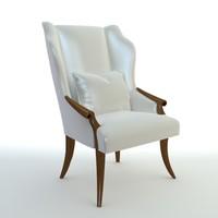 Wingback Italian chair