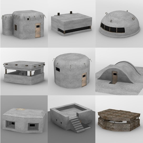 bunkers military 3d model