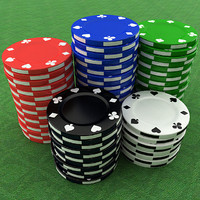 3d poker chip model