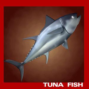 tuna fish 3d obj