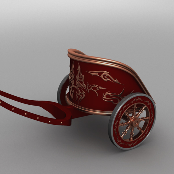 version roman war chariot 3d c4d