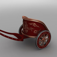 version roman war chariot 3d c4d