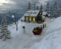 free christmas scene 3d model