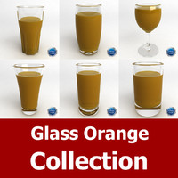 3d glass orange model
